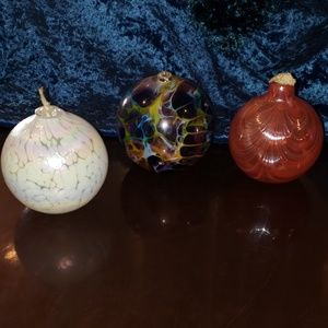 Set of 3 Lamplight Farms Oil Candle Globes